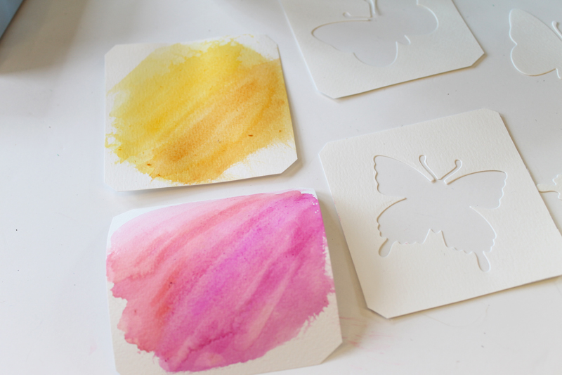 Watercolor projects - make die cut watercolor art in minutes! Easy enough for kids to make!