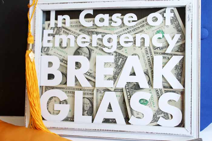 graphic about In Case of Emergency Break Glass Printable titled Offering Revenue for Commencement with Exclusive Commencement Items