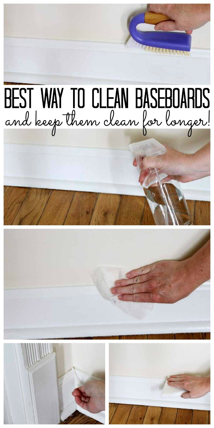 The best way to clean baseboards and keep them clean for longer!