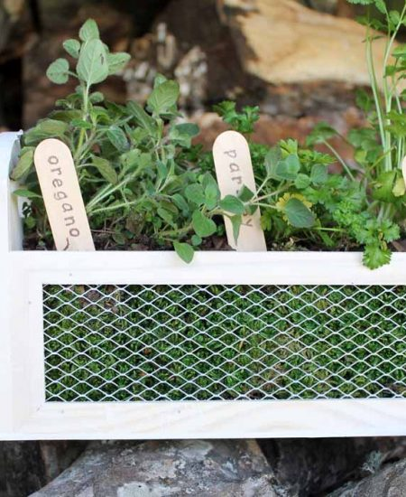 Make this herb garden planter in just minutes! A fun way to add some herbs to your patio this spring!