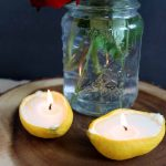 Make these lemon candles for weddings in just a few short steps! Perfect for a DIY wedding on a budget!
