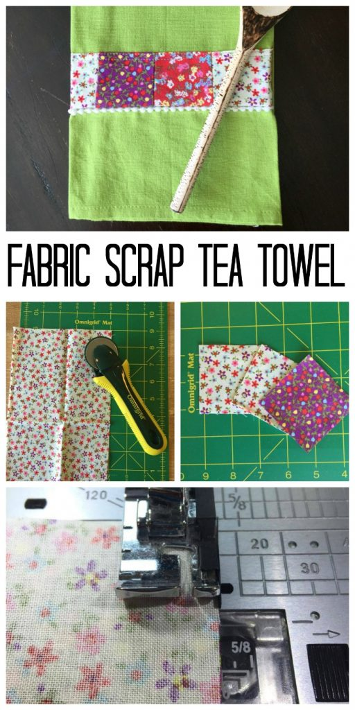 graphic for fabric scrap towel