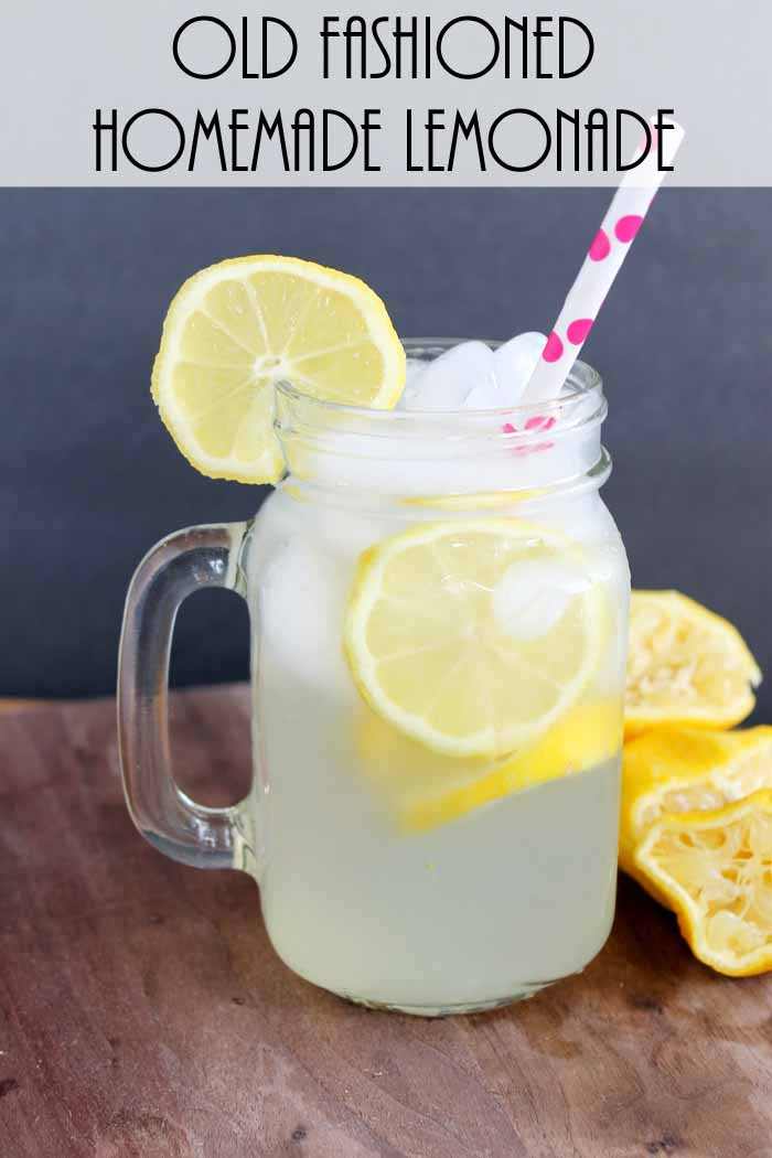Old fashioned homemade lemonade for one the country for Diy lemonade