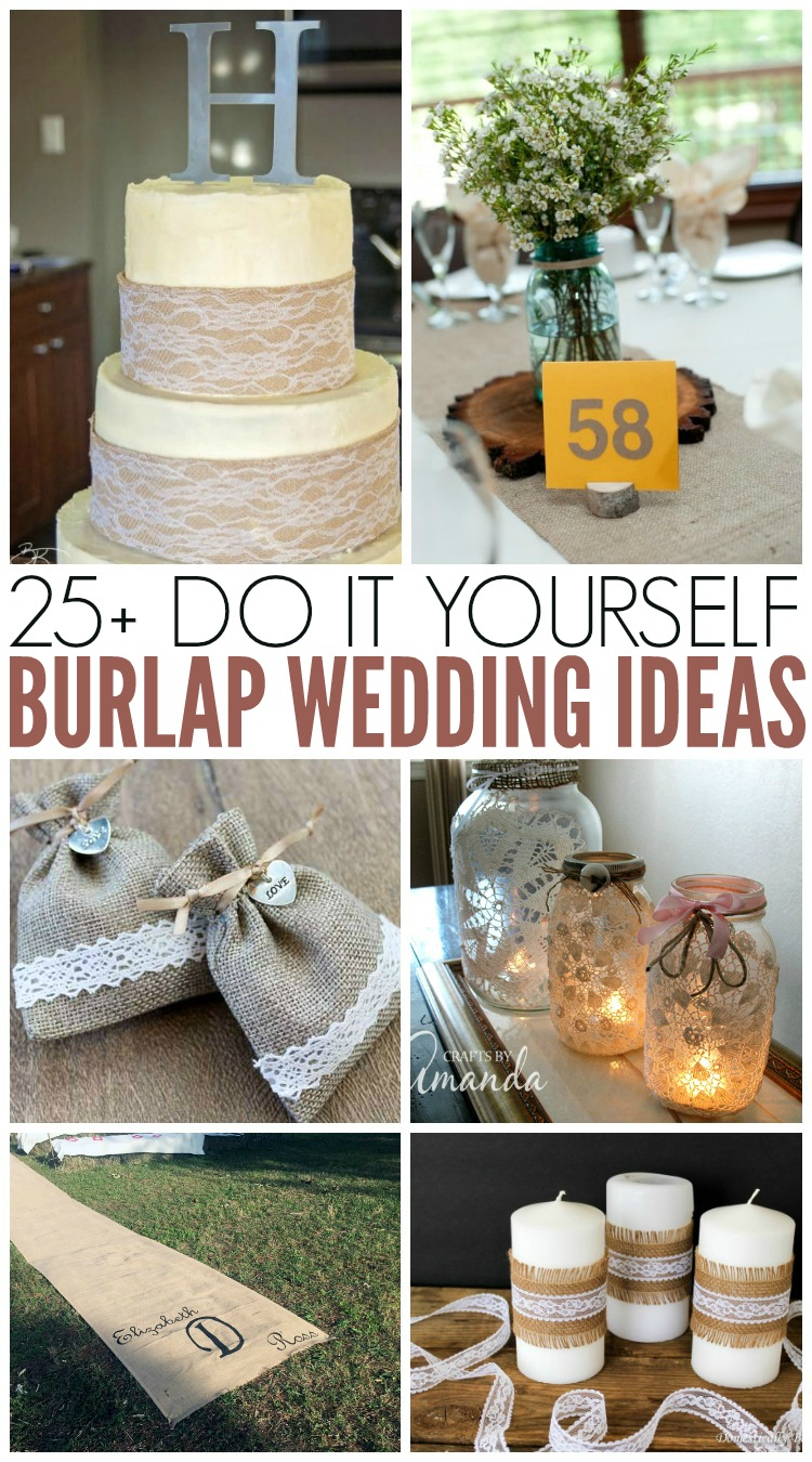Burlap wedding ideas for your rustic wedding! Use these DIY wedding ideas to plan your rustic wedding! #burlap #wedding
