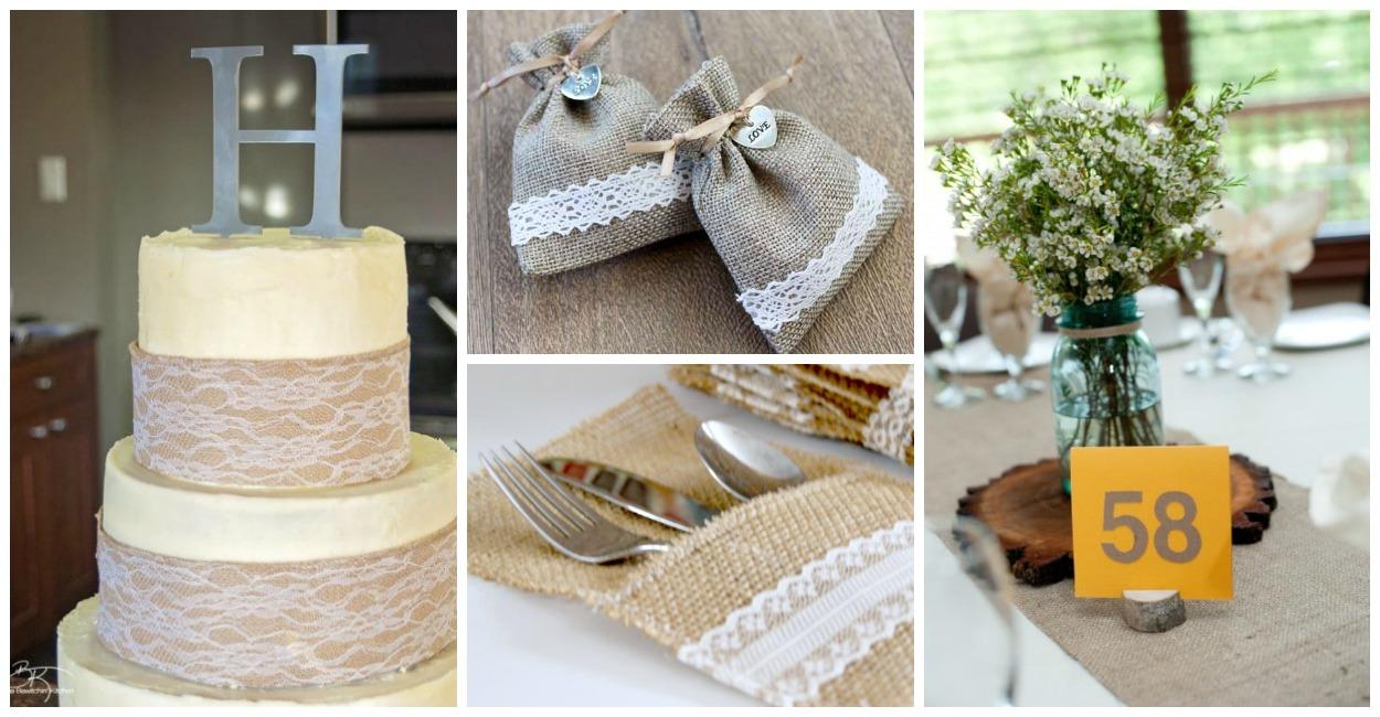 Burlap wedding ideas for your rustic wedding!