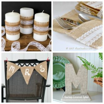 Burlap wedding ideas for your rustic wedding!