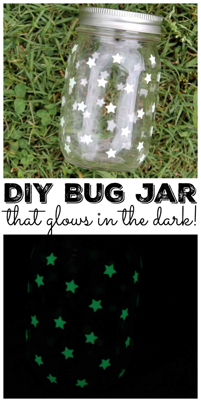 Make this DIY bug jar that glows in the dark for tons of summer fun!