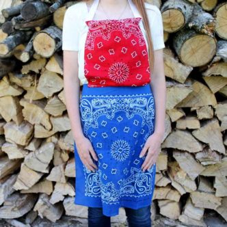 DIY Apron:  Made from Bandannas