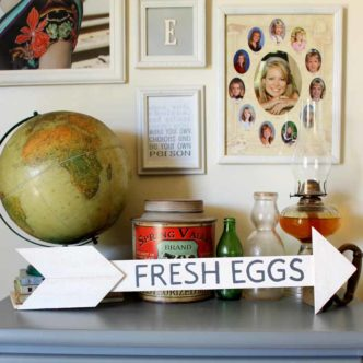 Farmhouse Kitchen Decor: Make this fresh eggs sign in minutes with these instructions!