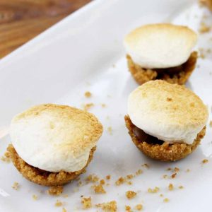 Make indoor s'mores with these s'mores bites! A quick and easy recipe!