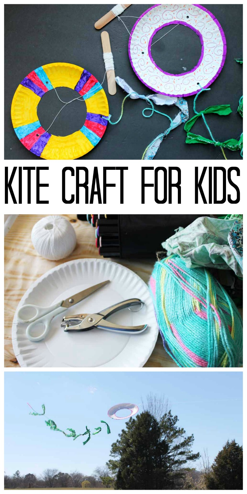 This Kite Craft For Kids Is Made With A Paper Plate Perfect Summer Crafting