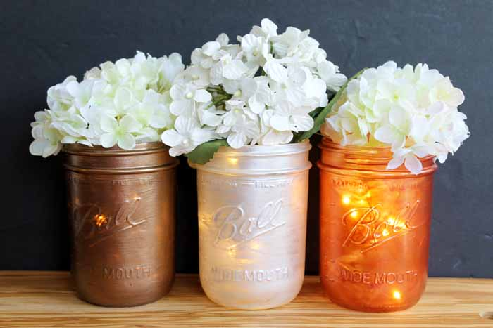 Mason Jar Wedding Centerpieces - The Country Chic Cottage