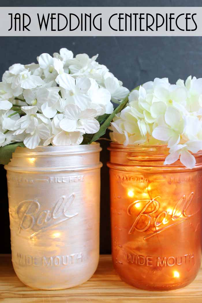 Mason Jar Wedding Centerpieces The Country Chic Cottage