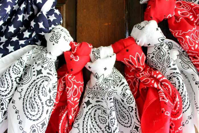 bandana wreath instructions