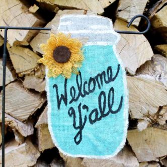 Personalized Garden Flags:  Summer Mason Jar