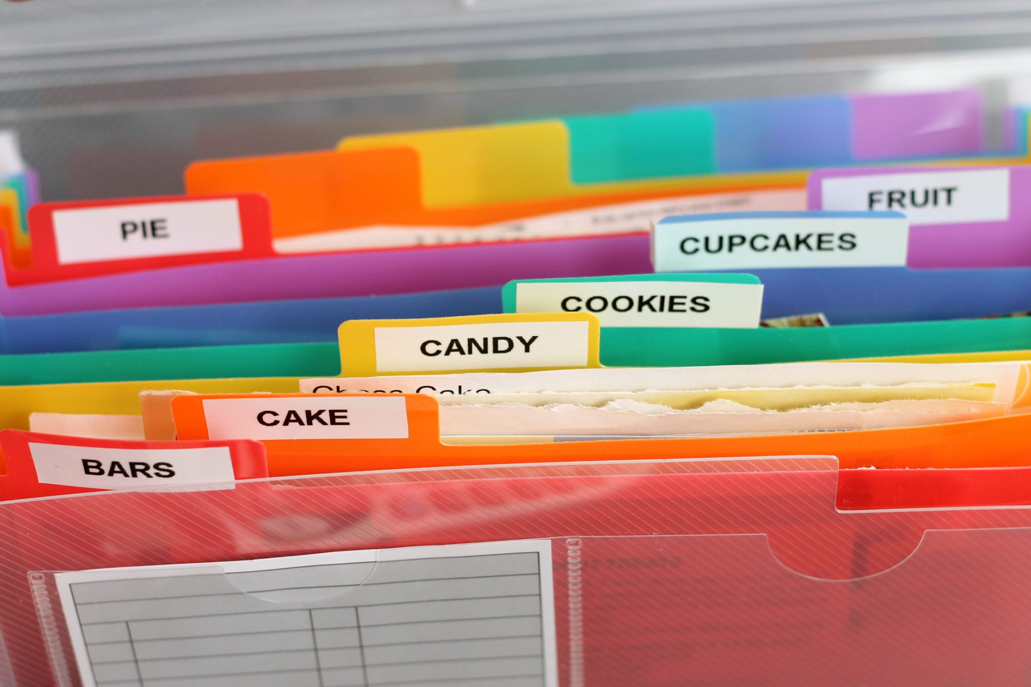 Recipe organizer - how to cut the clutter and organize your recipes!