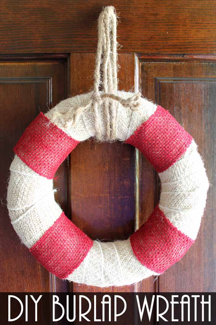 Diy burlap wreath beach themed the country chic cottage for Diy jute