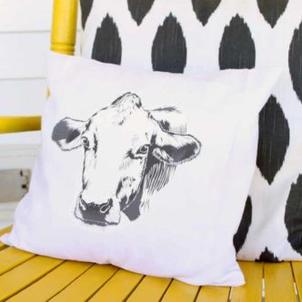 Farmhouse Pillow:  A Cow for Your Home