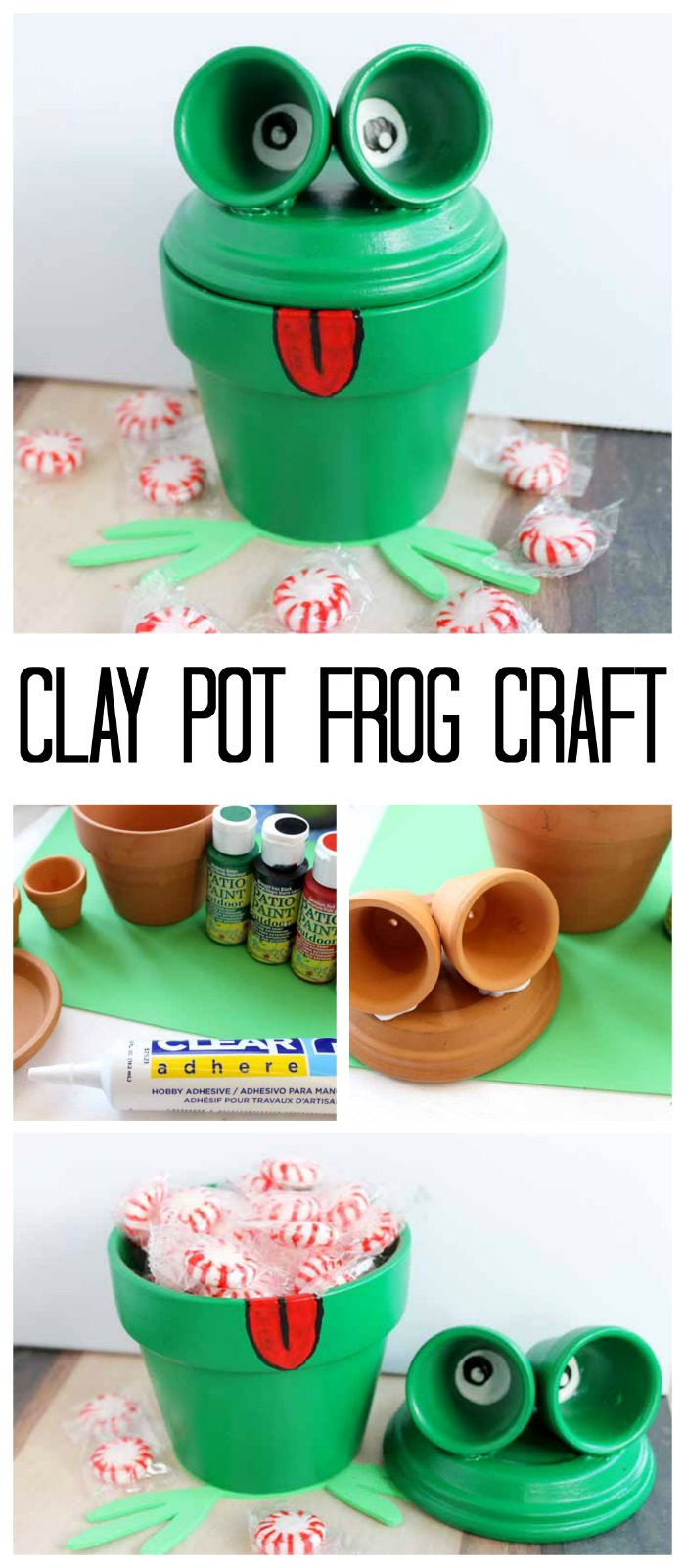 Frog craft painting clay pots the country chic cottage for Pot painting materials required