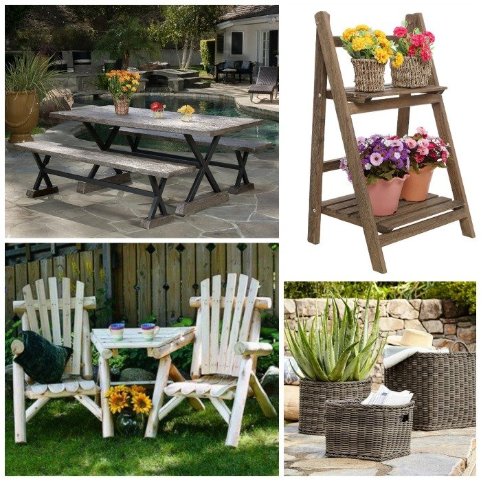 rustic garden furniture. Rustic Outdoor Furniture Options With Farmhouse Style! Order Online And Have It Delivered! Garden