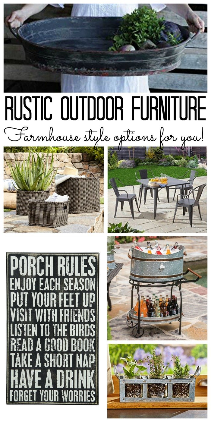 Rustic Outdoor Furniture Options With Farmhouse Style Order And Have It Delivered