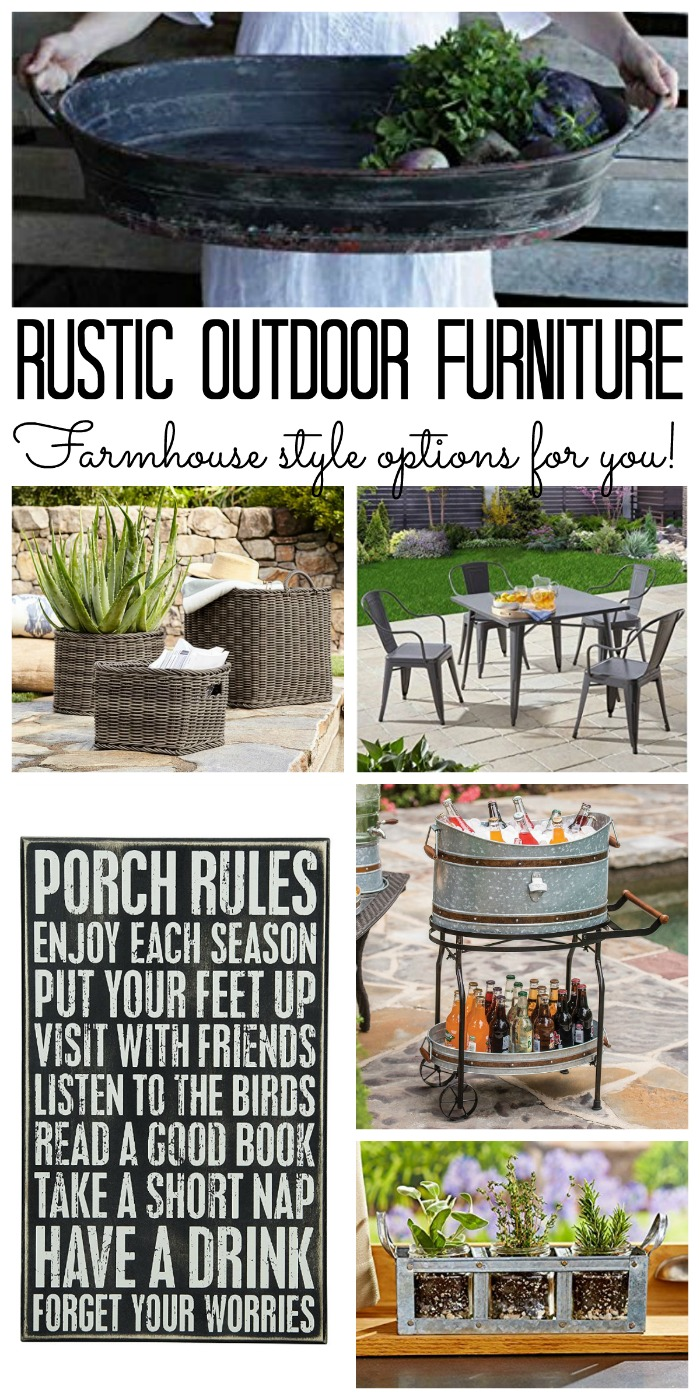 Rustic Outdoor Furniture Farmhouse Style Options The Country Chic