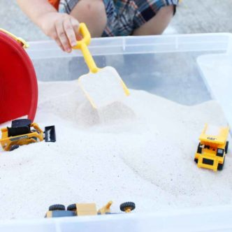 Sandbox with Lid:  An Inexpensive Alternative