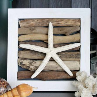 This starfish craft is perfect for easy beach wall art! See how to make it here!