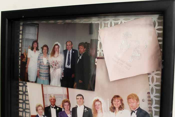 Wedding Keepsakes - add your memories to shadowboxes for a different way to display them!