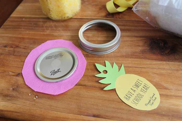 Back to School Teacher Gifts: Try giving this pineapple coconut sugar scrub to any teacher!