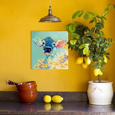 Want a cow painting on canvas? See our affordable options for adding one to your home!