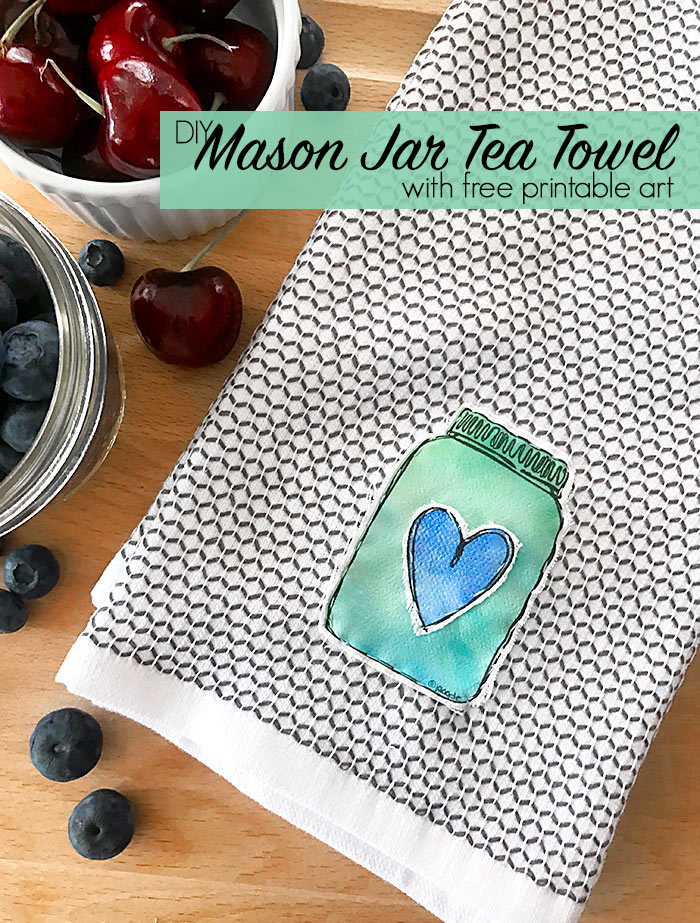 Easy DIY Mason Jar Tea Towel