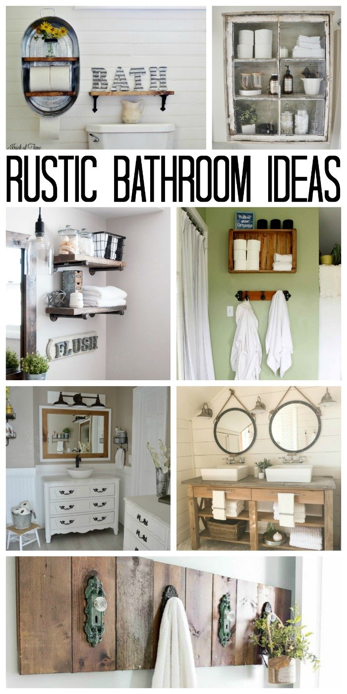Decorative Rustic Storage Projects For Your Bathroom: Rustic Bathroom Ideas For Your Home