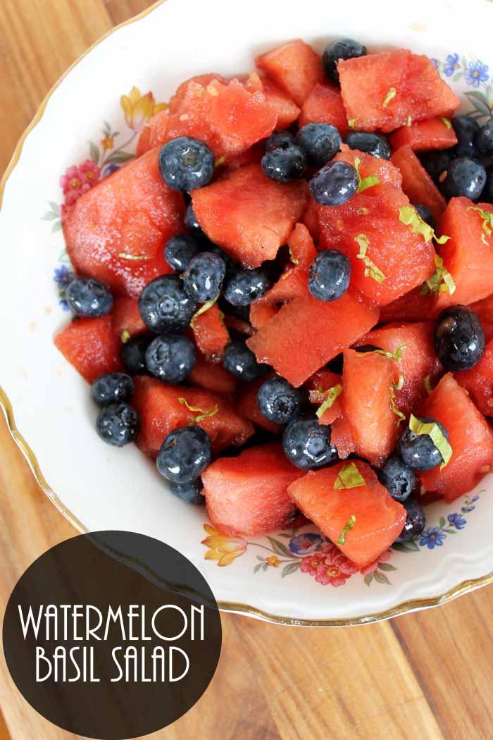 Make this watermelon basil salad recipe for summer!