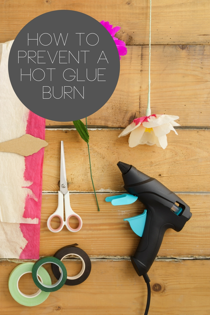 Learn how to prevent a hot glue gun burn with tools you may never have heard of!