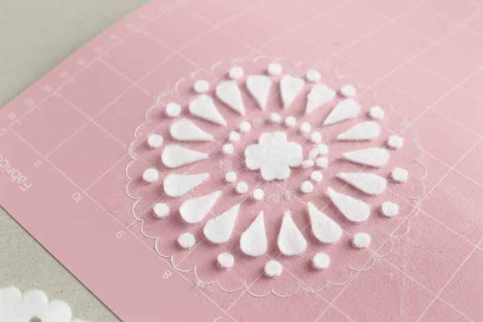 The Cricut Maker is capable of much more intricate cuts on fabrics like felt than the Explore Air 2