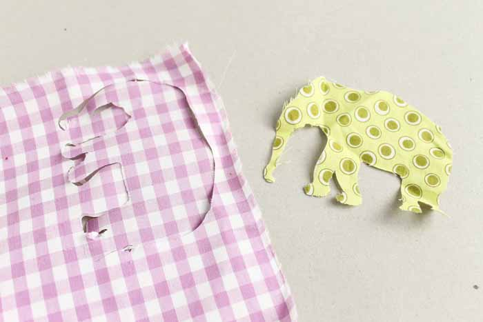The Cricut Maker cut much more intricate, accurate cuts on this elephant shaped fabric than the Explore Air 2