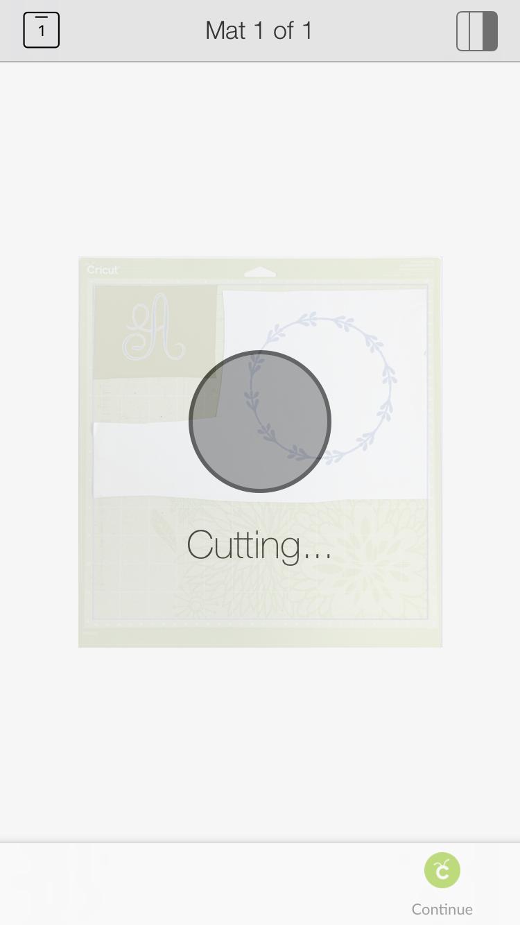 Cutting using Cricut snapmat