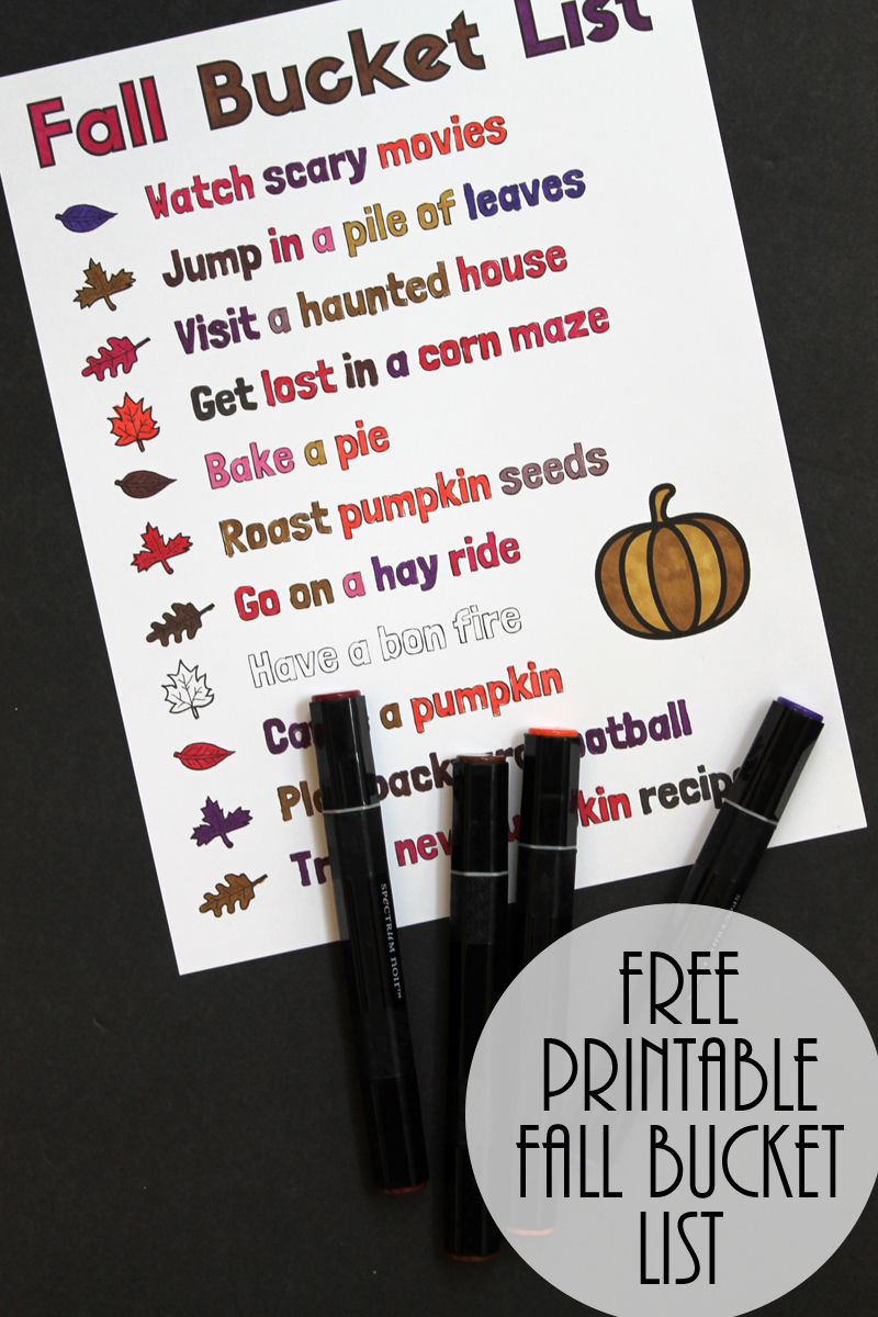 Print this fall bucket list for free and get started on these fun autumn activities!