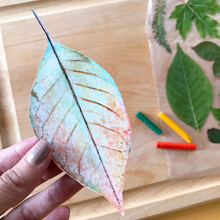 Cut out the leaf art you want to use