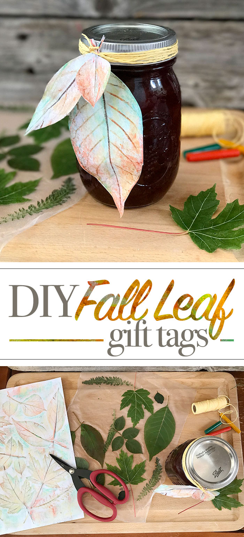 DIY Fall Leaf Gift Tags