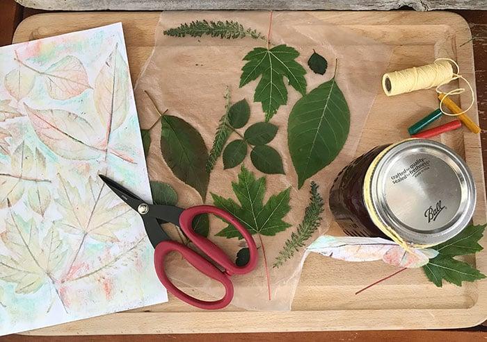 DIY Leaf Gift Tag supplies you need