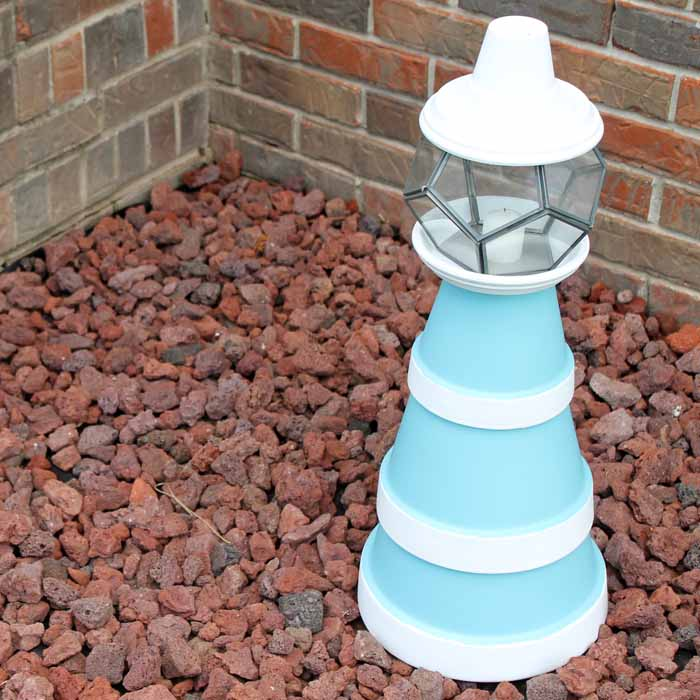 One flower pot lighthouse