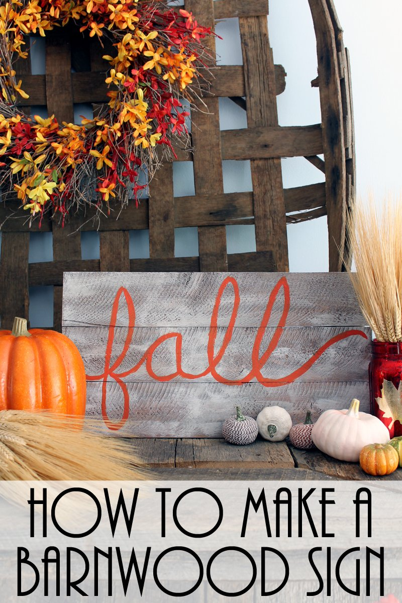 Learn how to make a barnwood sign with this quick and easy tutorial! A great faux paint finish to get that barn wood look!