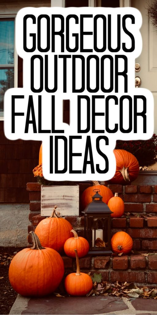 Outdoor fall decor ideas that you will love! Use these ideas to add some fall touches to your porch or patio! #fall #falldecor #outdoor #outdoordecor #autumn
