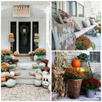Outdoor Fall Decorations with Farmhouse Style