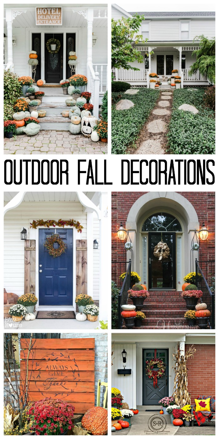 Outdoor Fall Decorations With Farmhouse Style Add A Few Of These Ideas To Your Home