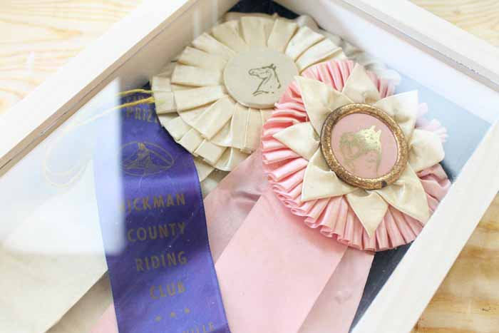 Make a shadow box display case for those precious memories!