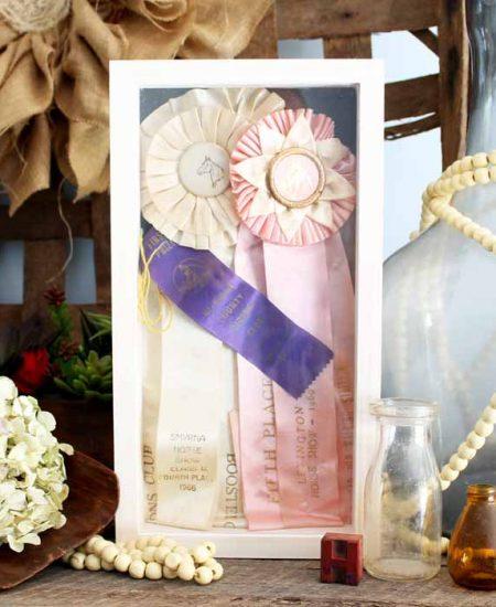 Make a shadow box display case for those precious memories!
