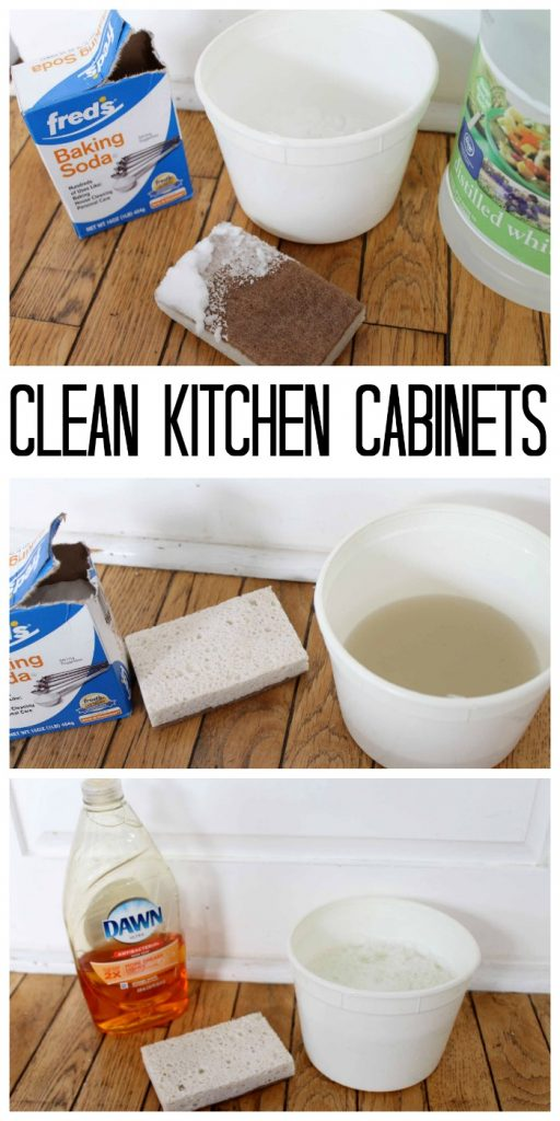 The Best Way to Clean Kitchen Cabinets - great tips and tricks here to clean with things you have around your home!